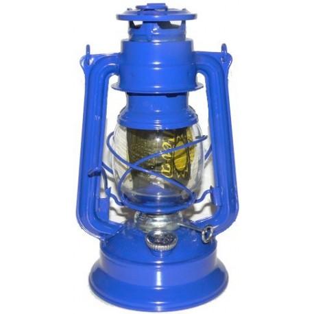 Plechová petrolejová lampa MEVA 864 (modrá)