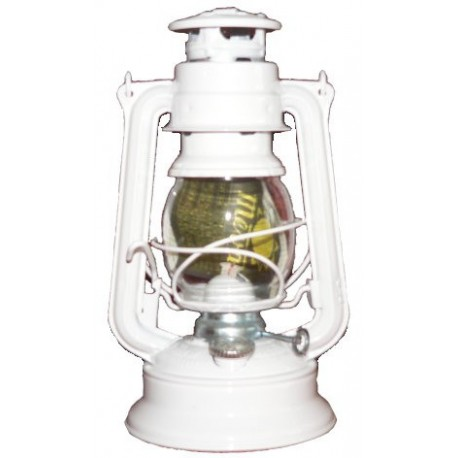 Plechová petrolejová lampa MEVA 864 (bílá)