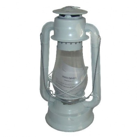 Plechová petrolejová lampa 30 cm (bílá)