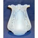 Stínítko na petrolejovou lampu S0166 bílé (6,7 cm)