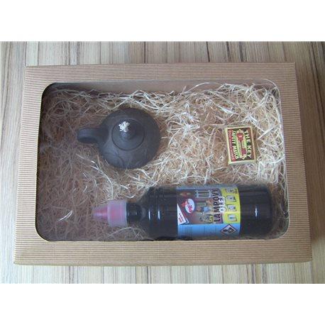 Dárkové balení stolní lampy s čirým olejem