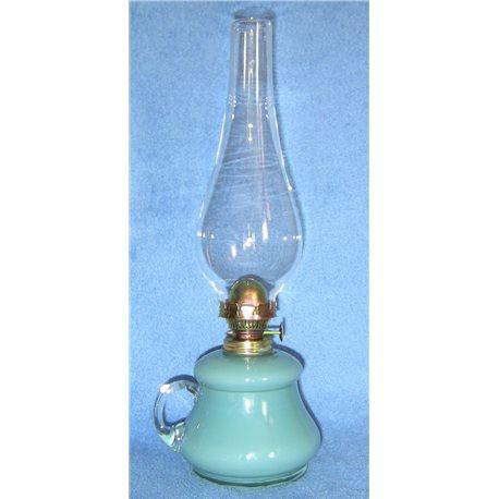 Petrolejová lampa 8''' (zelenomodrý zvonek)