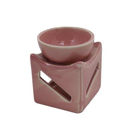 Keramická aromalampa (světle růžová)