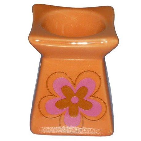 Keramická aromalampa Květina (oranžová)