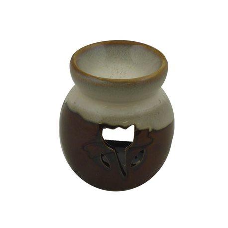 Keramická aromalampa Tulipán (bílohnědá)