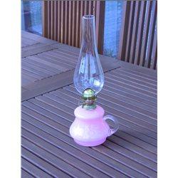 Petrolejová lampa 8''' (růžový zvonek)