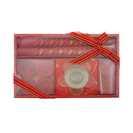 RENTEX Dárková sada vánočních svíček červená