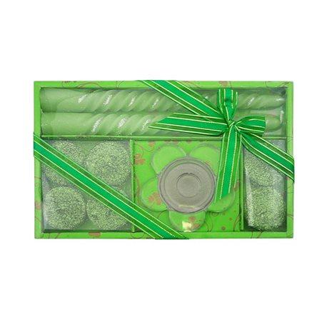 RENTEX Dárková sada vánočních svíček zelená