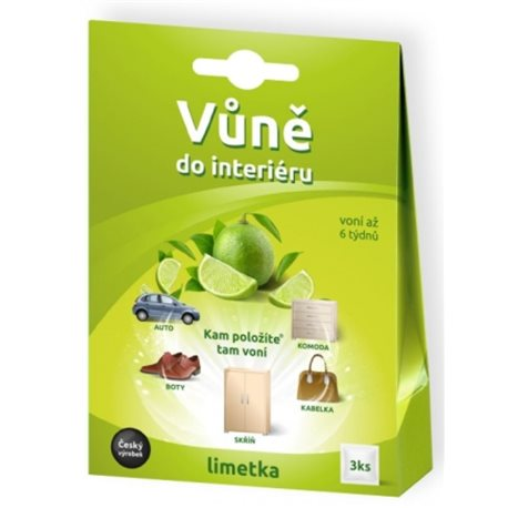 DM Multimarket Vůně do interiéru Limetka 3 ks