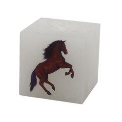 Rentex Svíčka kostka Kůň
