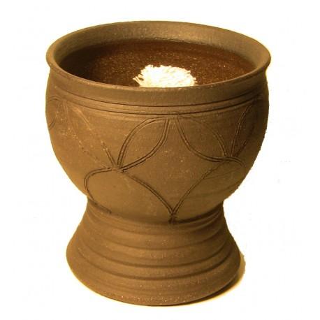 Keramická petrolejová lampa (zdobená zahradní lampa)